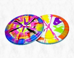 SpinArt Frisbees (Assorted Colors)